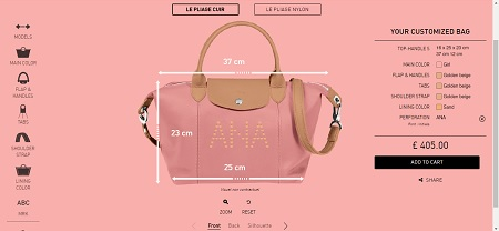 Long Champ Le Pliage Personalised