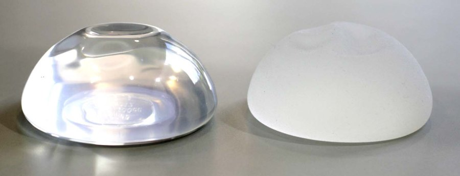 breast implant surface